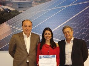 Andrea Aguilera ganadora de la beca Conergy España 2008