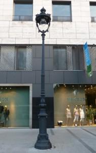 Las farolas modernistas de La Diagonal de Barcelona, son restauradas por Industrias de Iluminación Roura