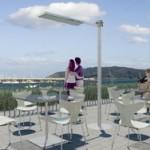 Una empresa guipuzcoana desarrolla un sistema de calefacción ecológico basado en tecnología de infrarrojos diseñado especialmente para zonas exteriores dedicadas a los fumadores