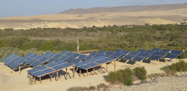 Sistema Fotovoltaico AC (380V). Bombeo de agua para riego. Proyecto en Ica (Perú)