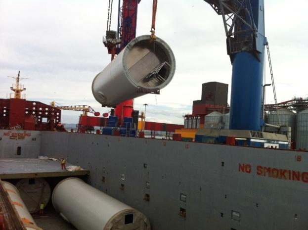 DSV Air & Sea refuerza su posición en el sector de Energías Renovables con el embarque de 20 buques destino USA, Canadá y Suecia