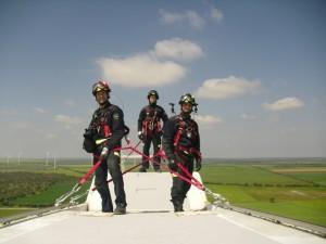 Los Bomberos de Valladolid incorporan los parques eólicos a su protocolo de emergencias
