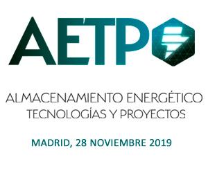 Jornada AETP: Almacenamiento energético, tecnologías y proyectos (7ª edición)
