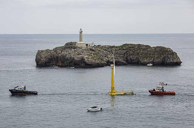 Puesta en marcha de la primera plataforma  eólica flotante en Santander