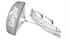 Cargill impulsa la navegación con el mayor buque propulsado por una cometa