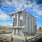 Proyecto eólico Aurora recibe transformador de poder en sitio de construcción
